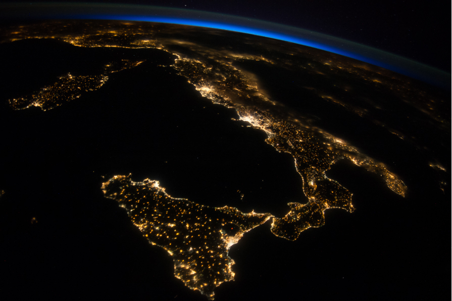 Italia-from-space
